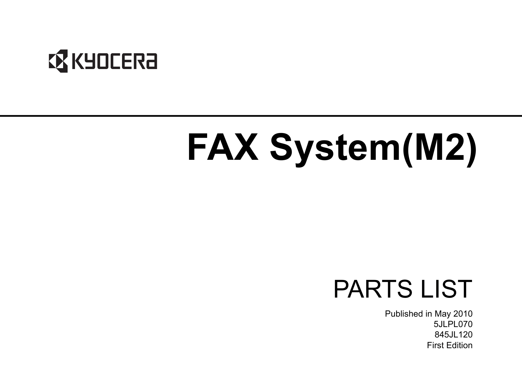 KYOCERA Options FAX-System-M2 for FS-C2026MFP Parts Manual-1